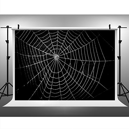 Maijoeyy 7ftx5ft Halloween Backdrop Spider Web Photography Backdrops