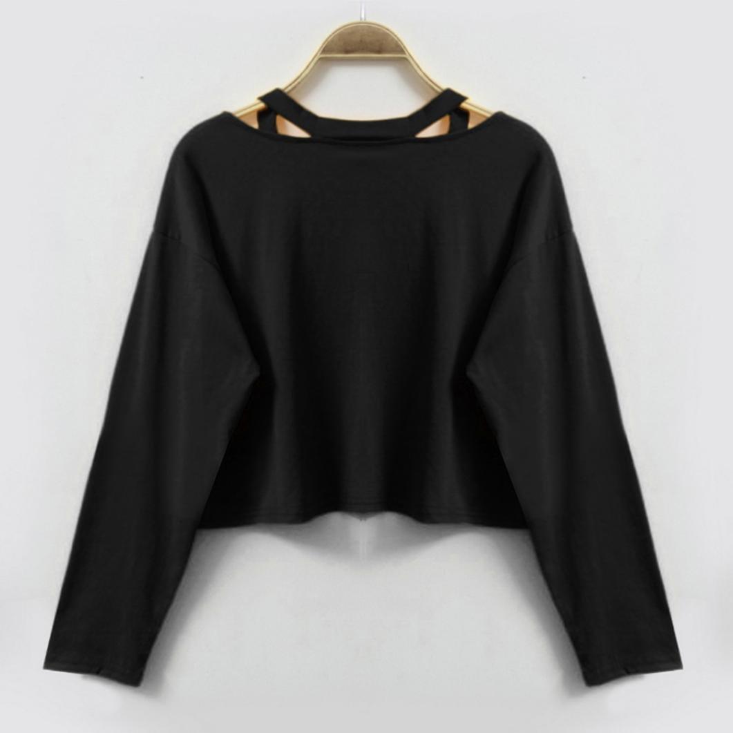 Sudaderas mujer Amlaiworld Sudaderas tumblr mujer Impresión blusa crop top camisetas mujer: Amazon.es: Ropa y accesorios