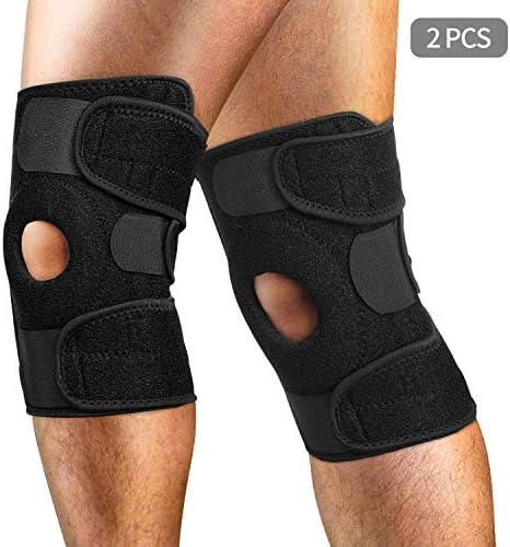 [Gesponsert]AiBast 2X Kniebandagen Rechts und Links,Sport Knieorthese, Knieschienen für Optimale Unterstützung für Ihr Knie...