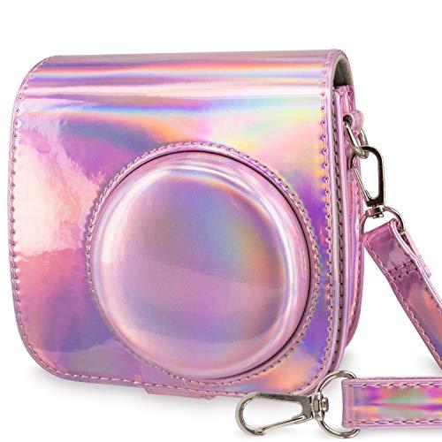 Wolven Protective Case Bag Purse Compatible with Fugifilm Mini 9, Mini 8, Mini 8+ Camera, Pink