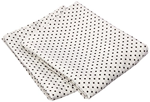 Morning Glamour 2-Pack Signature Box Pillowcases, Black/White Dot