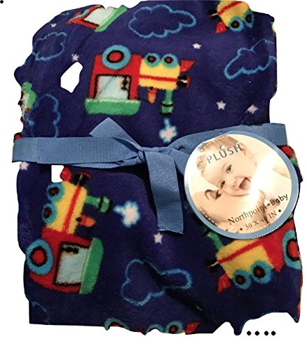 Northpoint Plush Baby Blanket - Train - Store Northpoint