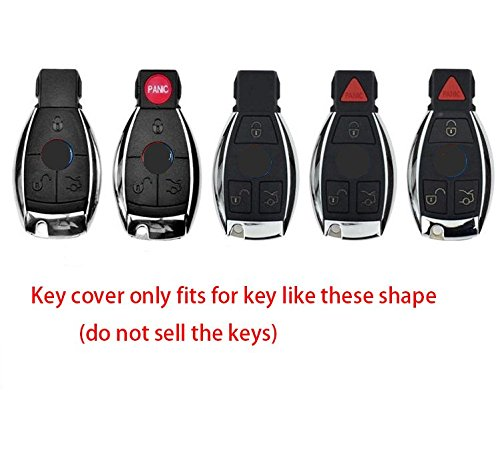 Angelguoguo abs car key case cover fob holder replacement for Mercedes benz keys replacement cost