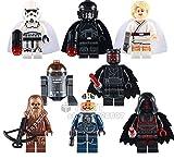 Star Wars Minifigures set of 8: Darth Vader Luke Skywalker Chewbacca Storm Troopers Darth Maul Chopper Pilot