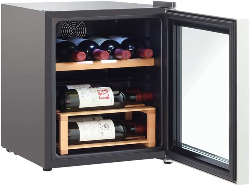 Lnspirational Gifts Decor Accessories 8 Bottle Wine Cooler Refrigerator Red and White Wine Chiller Champagne Chiller Counter Top Wine Cellar Quiet Operation Fridge Touch Temperature Control black