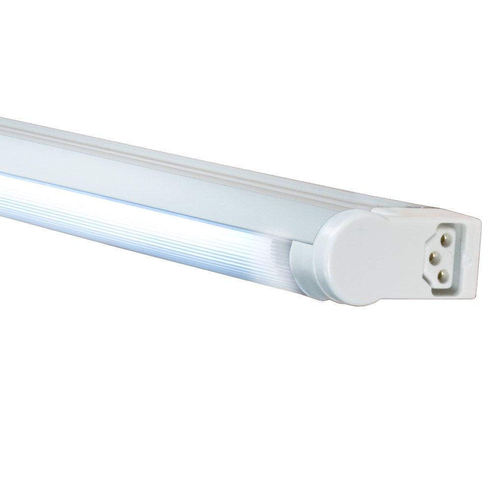 Jesco Lighting SG5AHO-39/41-W Sleek Plus Adjustable Grounded 39-Watt High Output T5 Light Fixture, 4100K Color, White Finish