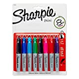 Sharpie Mini Fine Point Permanent Markers, 8 Colored Markers(35109)(2Pack)