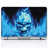 Meffort Inc 15 15.6 Inch Laptop Notebook Skin Sticker Cover Art Decal - Blue Skull