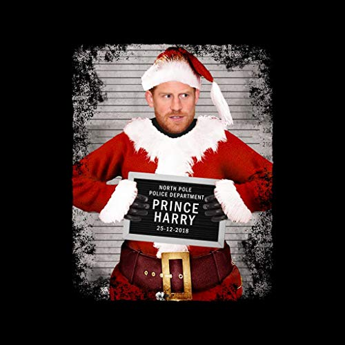 Sweatshirt Beard Christmas Mugshot Prince Harry Women's Black xqgFXAz