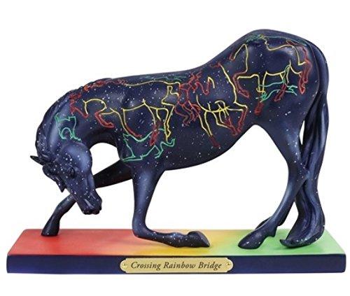 """Enesco Trail of Painted Ponies """"Crossing Rainbow Bridge"""" Stone Resin Figurine, 5"""", 5 Inches, (Painted Ponies Figurine)"""