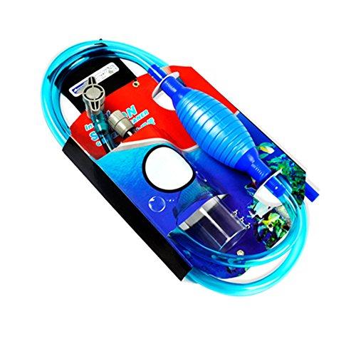 Genuine SEXOX Aquarium Cleaner Aquarium Fish Tank Gravel Sand Cleaner with Long Nozzle N Water Flow Controller - BPA Free