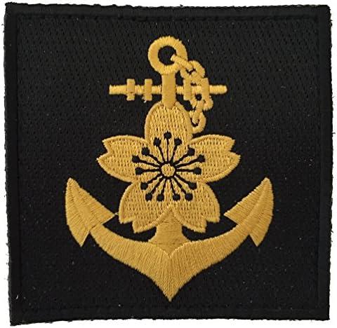 [ ワッペン屋Dongri ] ベルクロワッペン 大日本帝国 海軍記章 ゴールド A0010