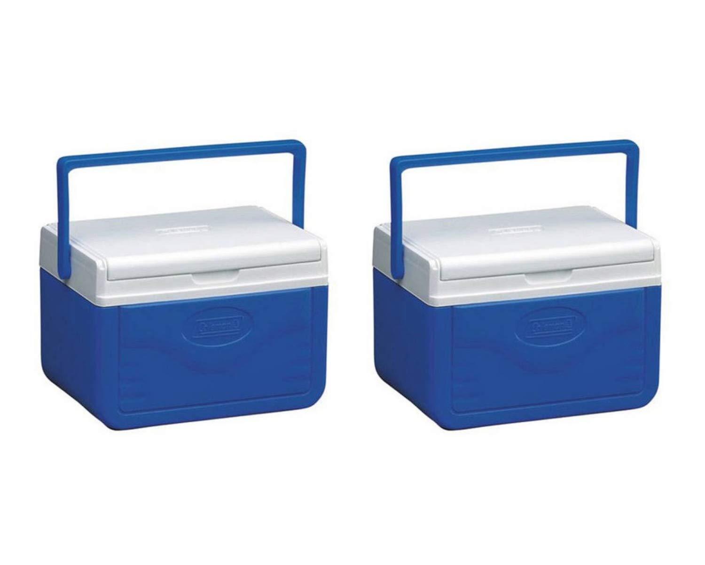 Coleman FlipLid Personal Cooler, 5 Quarts (2 Set, 5 Quarts, Blue)