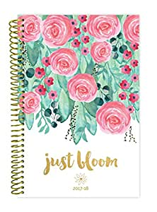 """bloom daily planners 2017-18 Academic Year Daily Planner - Passion/Goal Organizer - Monthly and Weekly Datebook and Calendar - August 2017 - July 2018 - 6"""" x 8.25"""" - Just Bloom"""