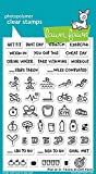 LAWN FAWN Clear Stamps 4''X6'' Plan On It Fitness (LF1483)