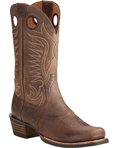 Ariat Mens Heritage Hotshot Work Boot, Baked Brown, 9.5 D US Brown