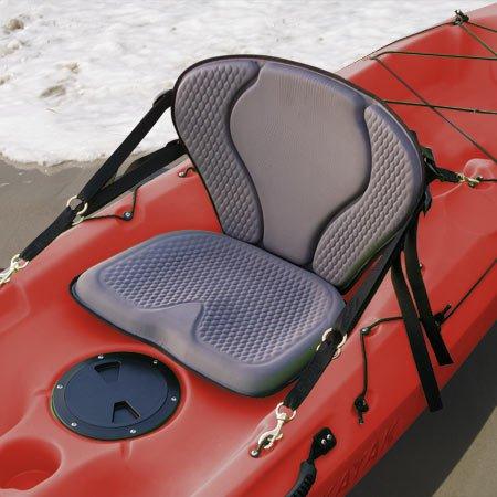 GTS Pro Molded Foam Kayak Seat W/ Zipper Pack, Sit On Top Kayak Seat, Back Support Kayak Seat, Kayak Cushion