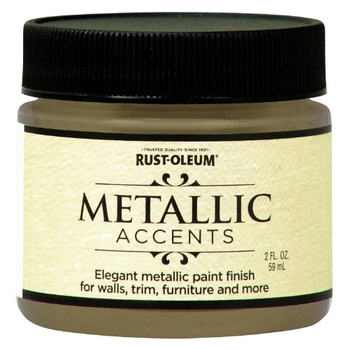 (Rust-Oleum 255290 Metallic Accents Paint, 2 oz Trial Size, Soft Gold)