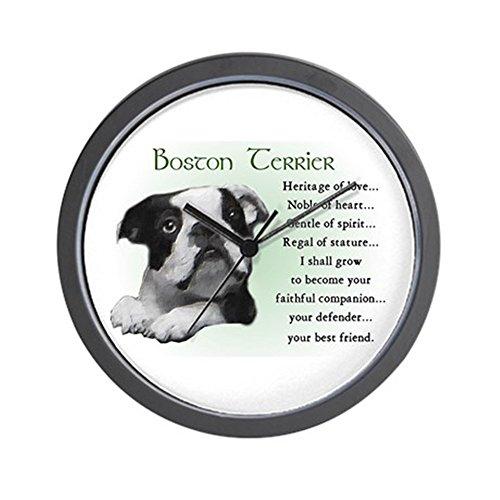 CafePress Boston Terrier Gifts Wall Clock Unique Decorative 10