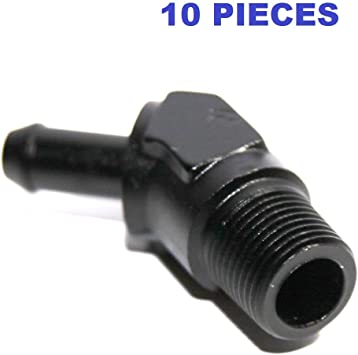 3 AN to 1//8 NPT Fitting Black Male 45° Degree Elbow Adapter HIGH QUALITY!
