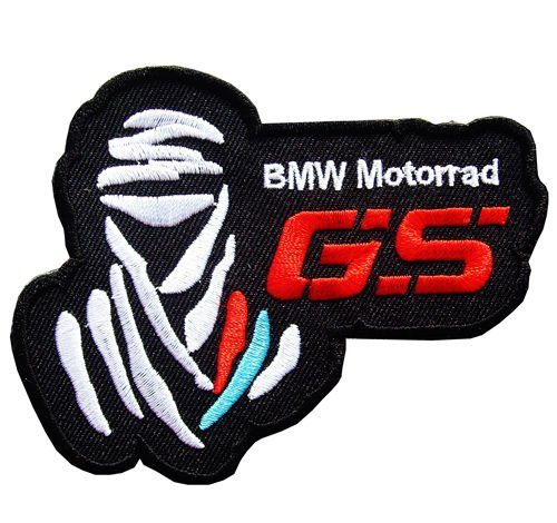 Black Rally Dakar GS Enduro MOTORRAD Adventure Racing Bmw Ktm Yamaya Iron on Jacket Patch