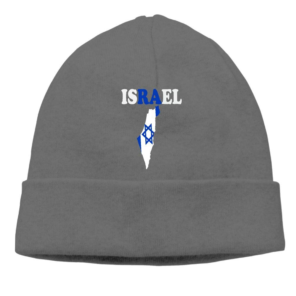 GDSG5/&4 Israel Text with Flag Map Women and Men Great Thermal Cycling Skull Cap