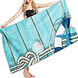 Alian Beach Towel, Large-Size Printing Microfiber Quick-Drying Towel for Beach Travel, Swimming, Pool, Camping, Outdoors Lightweight & Water-Absorbent, 67 x 35 Inch