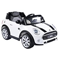 Costzon White BMW Mini Cooper 12V Electric Kids Ride On Car Licensed MP3 RC Remote Control