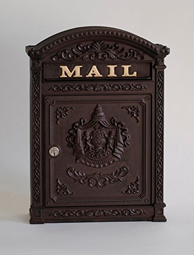 Victorian Style Locking Mailbox Color: Rust Brown by ECCO