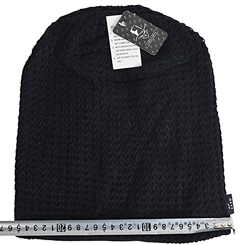 6c9daead932 FORBUSITE Mens Slouchy Long Beanie Knit Cap for Summer Winter ...