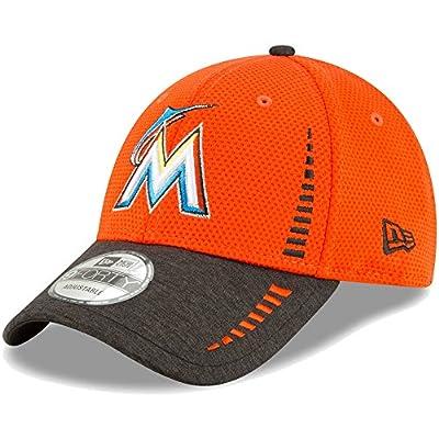 Miami Marlins New Era Speed Tech 9FORTY Adjustable Hat Orange/Heathered Black
