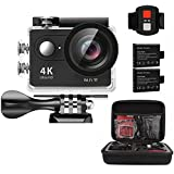 Action Camera, AEDILYS 4K HD Action Camera,Wrist 2.4G Wireless RF Remote Control, WiFi 2inch 170° Sports Video, lens Helmet go waterproof pro camera +Camera Bag … (Black)