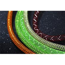 8 pcs Assorted Colors&Sizes Mylar Tinsel Mesh Tube 6mm/8mm Width 1m Length Fly Tying Materials