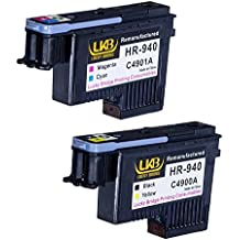 LKB HP940 Printhead 2PK C4900A C4901A Remanufactured Compatible for HP Officejet with Pro 8000 8500 8500A 8500A Plus 8500A Premium