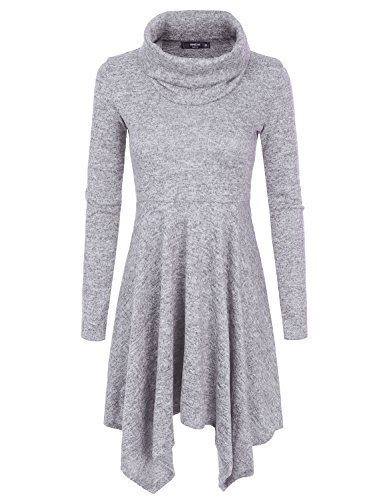 NINEXIS Womens Cowl Neck Sweater Dresses Women | Tunic Sweater Dresses for Women