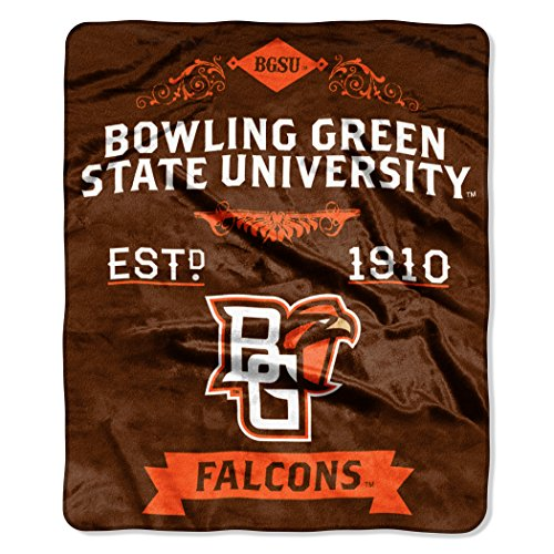 The Northwest Company Officially Licensed Ncaa Bowling Green Falcons Label Plush Raschel Throw Blanket  50  X 60