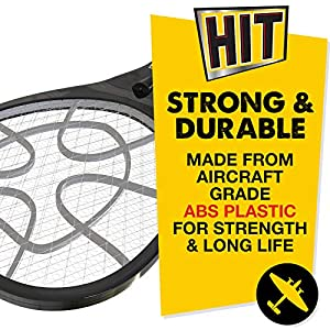 HIT Anti Mosquito Racquet – Rechargeable Insect Killer Bat with LED Light (6 Months Warranty)