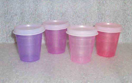 Fuchsia Berry (Set of 4 Tupperware Midgets Tiny 2-Ounce Containers Purple Pink Fuchsia Berry Rare)
