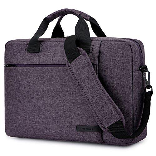 Laptop Bag 15.6 Inch,BRINCH Stylish Fabric Laptop Messenger Shoulder Bag Case Briefcase for 15-15.6 Inch Laptop/Notebook / MacBook/Ultrabook / Chromebook Computers (Purple)