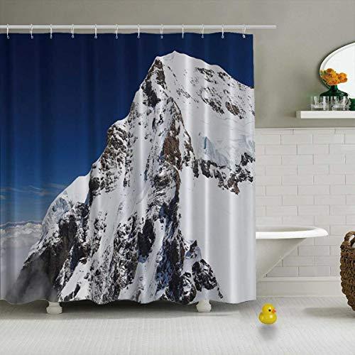 YOLIYANA Mount Eiger in The Jungfrau Region Shower Curtain Modern Shower Curtain,Swiss,71''Long x 71''Wide (Best Place To Stay In Jungfrau Region)