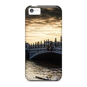 Series Skin Cases Covers For Iphone 5c(paris Bridge)