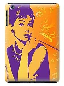 Custom unique Lovely Audrey Hepburn fashionable TPU Cellphone Protector Shield Case for ipad mini