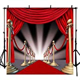 Red Carpet Photography Backdrop Wedding Photo Background Studio and Event Prop 10x10ft
