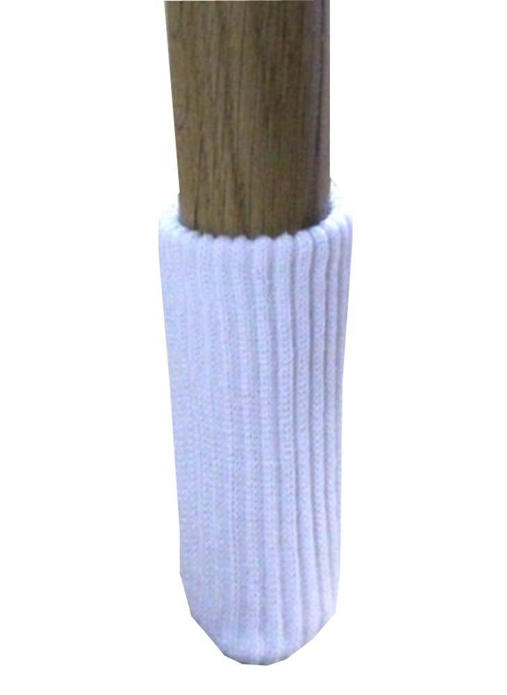 24pcs Protezioni per il pavimento della gamba della sedia per maglieria Piedini per piedini per mobili - Bianco Alien Storehouse