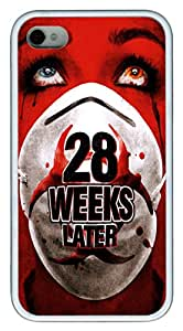 iPhone 4S Case and Cover 28 Weeks Later TPU Silicone Rubber Case Cover for iPhone 4 and iPhone 4s White