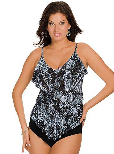 Magicsuit Women's Come Slither Rita Tankini Top Grey 12 (Tankini Snake Print)