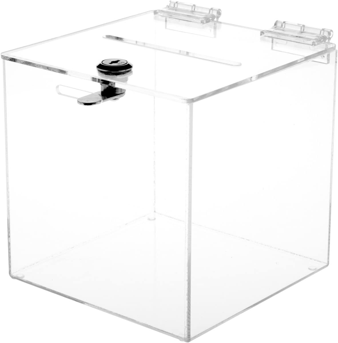 """Collection 10/"""" W x 10/"""" D x 10/"""" H Donation Box Plymor Clear Acrylic Ballot"""