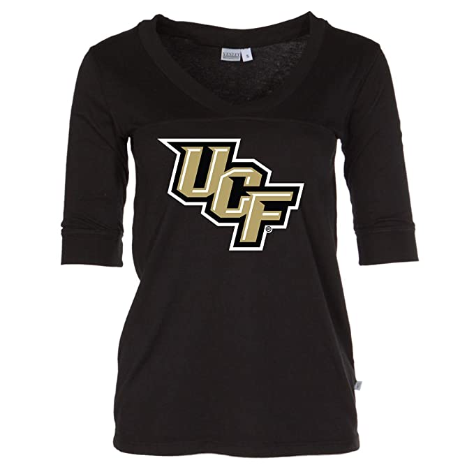 the best attitude 628f4 d6e8d Official NCAA UCF Knights - Women's 3/4 Sleeve Football V-Neck Tee