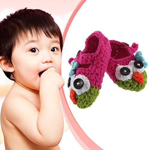 YaptheS Cute Handmade Newborn Baby Baby Crochet Owl Shoes Booty Photo Gift Comfortable