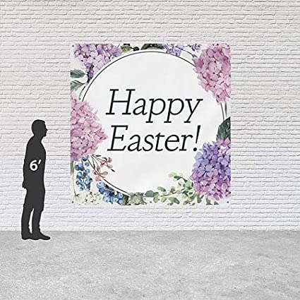CGSignLab 8x8 Square Heavy-Duty Outdoor Vinyl Banner Easter Floral